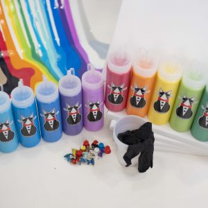 12 Color Puddle Paint Party Kit | TuxedoKat Products