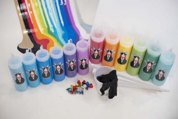 12 Color Puddle Paint Party Kit | TuxedoKat Products