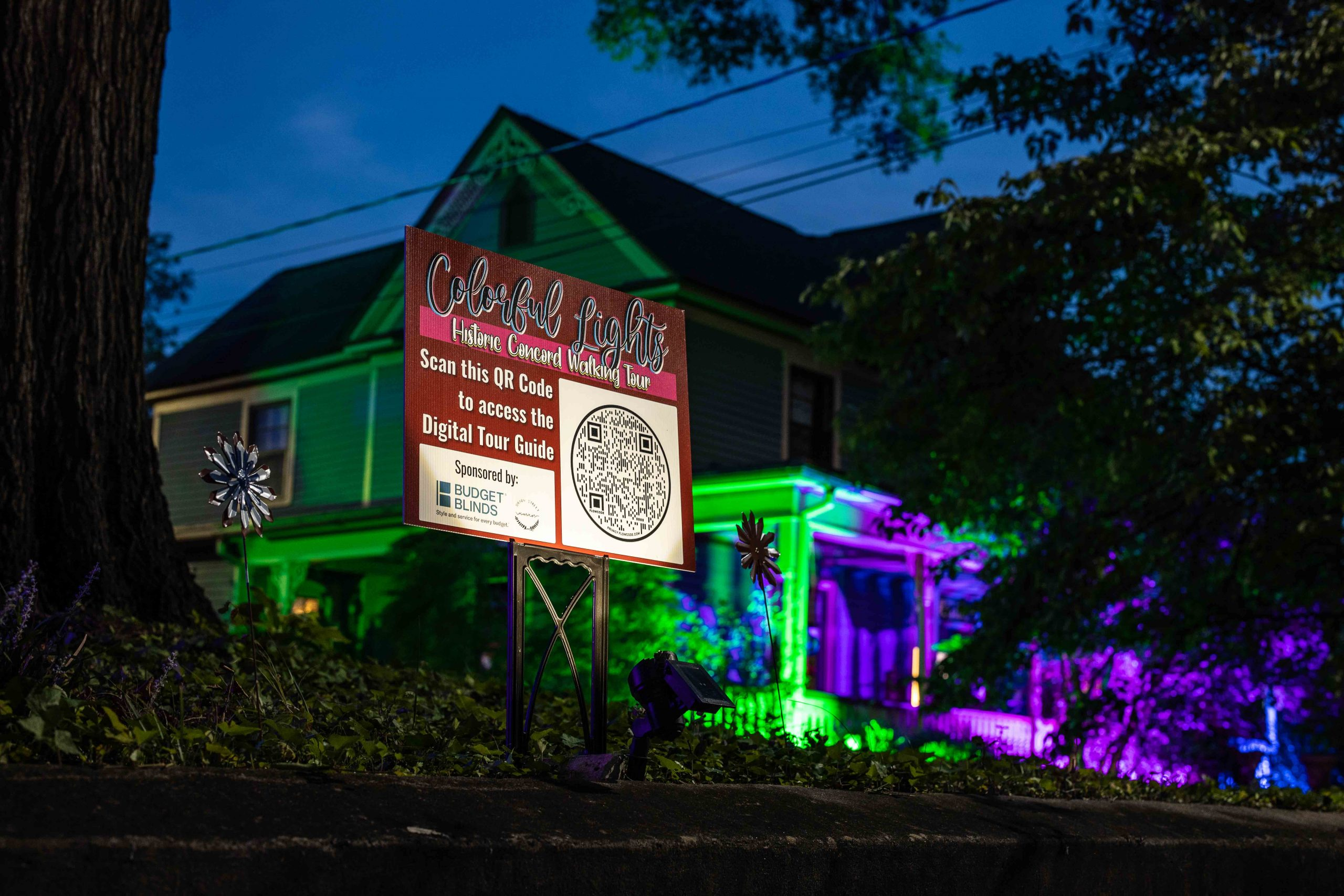 Colorful Lights Historic Concord Walking Tour | Downtown Concord